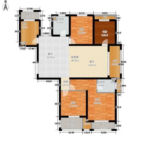 长江越领4室0厅2卫1厨165.00㎡户型图