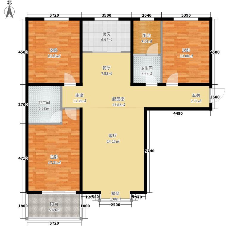 翰林雅筑132.76㎡7号楼C面积13276m户型