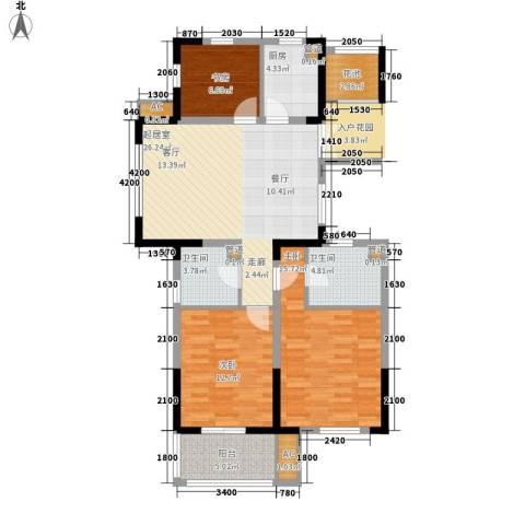 宇恒明月星城3室0厅2卫1厨112.00㎡户型图