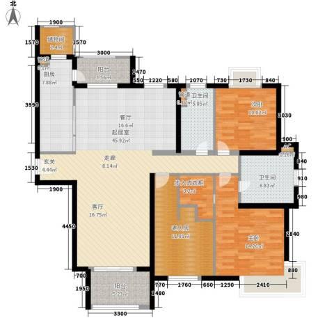 西康路9893室0厅2卫1厨163.00㎡户型图