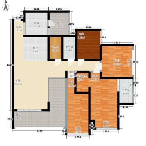 天一新城4室1厅2卫1厨170.00㎡户型图