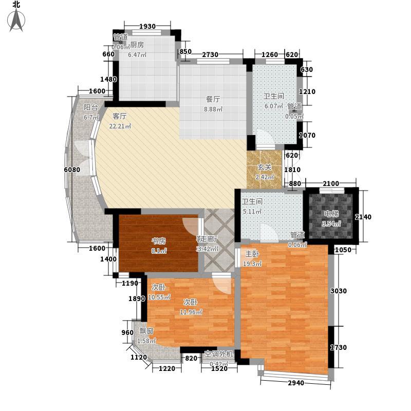 碧波康庭131.45㎡小高层户型