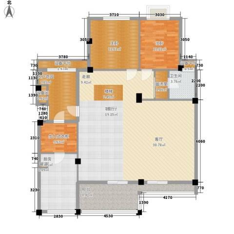 复地别院院立方2室1厅1卫1厨198.00㎡户型图