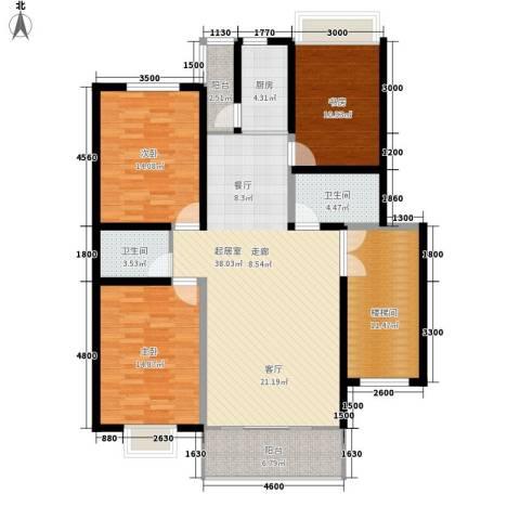 飞英家园3室0厅2卫1厨157.00㎡户型图