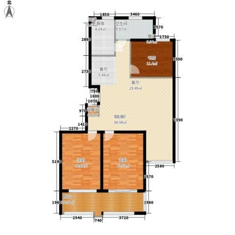 盛唐世家3室1厅1卫1厨130.00㎡户型图