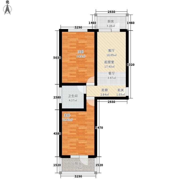 宝嘉龙庭88.90㎡宝嘉龙庭户型图D户型2室1厅1卫1厨户型2室1厅1卫1厨