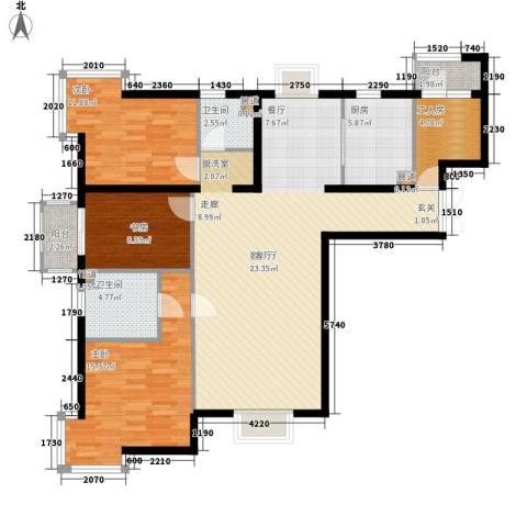 联丰苑3室1厅2卫1厨101.26㎡户型图