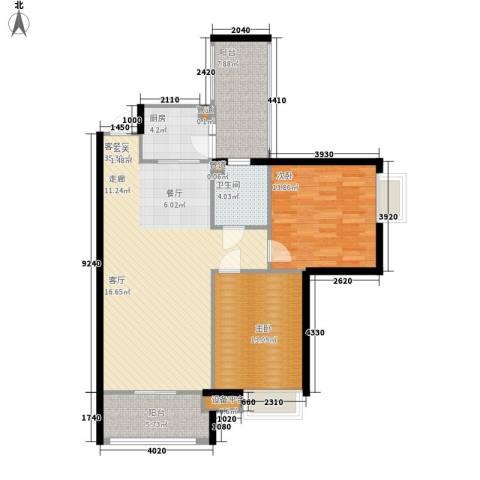 盈丰广场(塘厦)2室1厅1卫1厨84.93㎡户型图