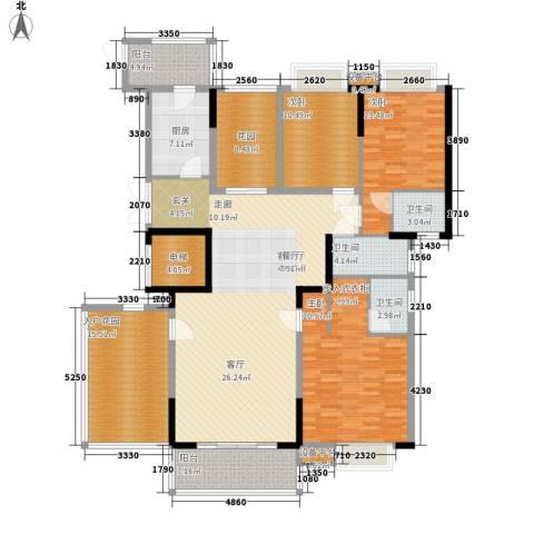 新世纪领居二期3室1厅3卫1厨173.00㎡户型图