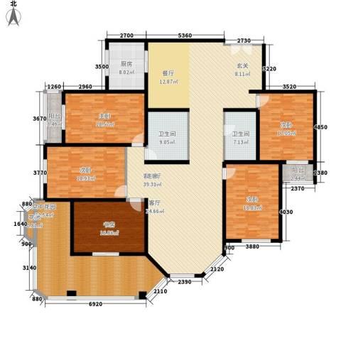 汾河景观3605室1厅2卫1厨267.00㎡户型图