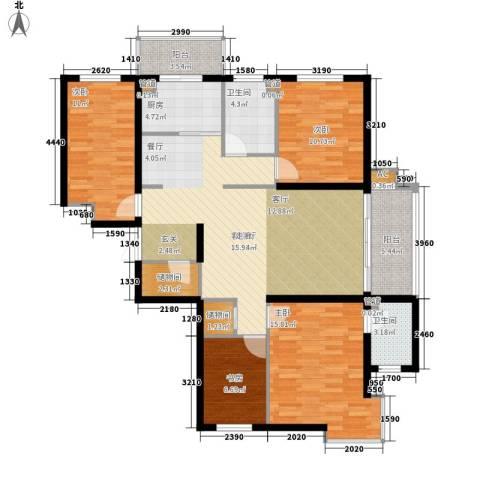 民生国际4室1厅2卫1厨120.00㎡户型图