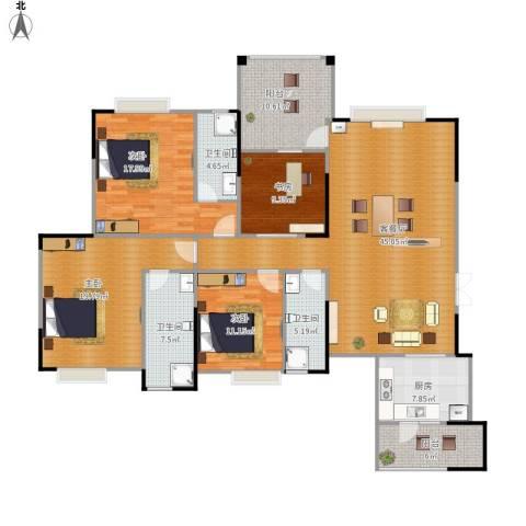 海悦新城4室1厅3卫1厨194.00㎡户型图