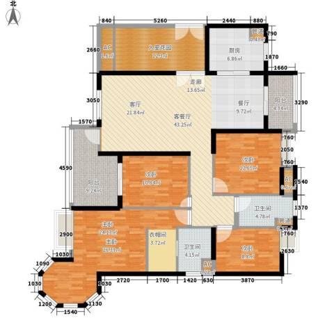 明景・江南世家4室1厅2卫1厨167.00㎡户型图