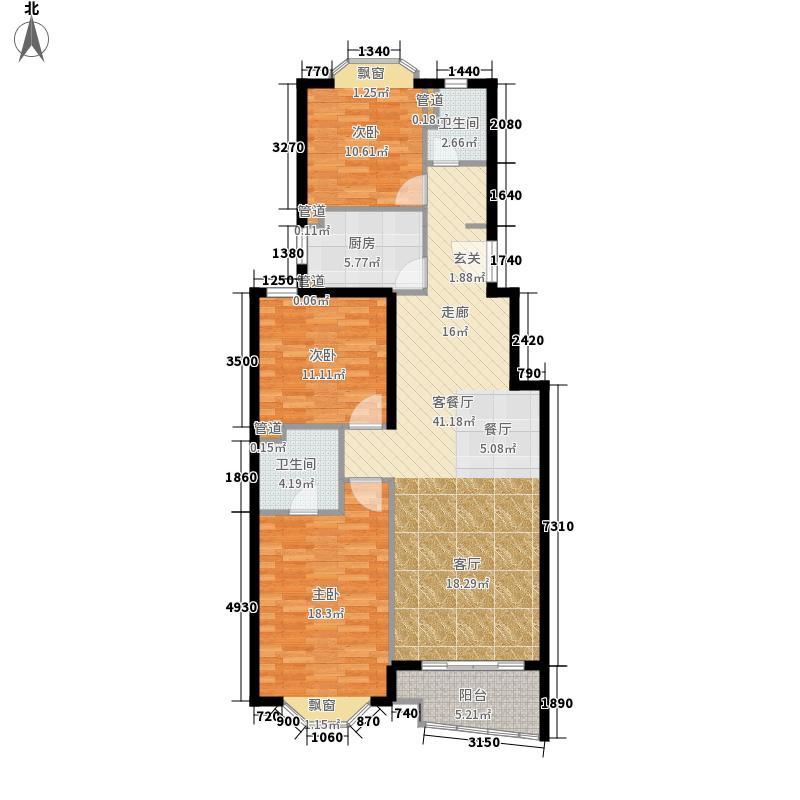 上海 衡园 3室 户型图