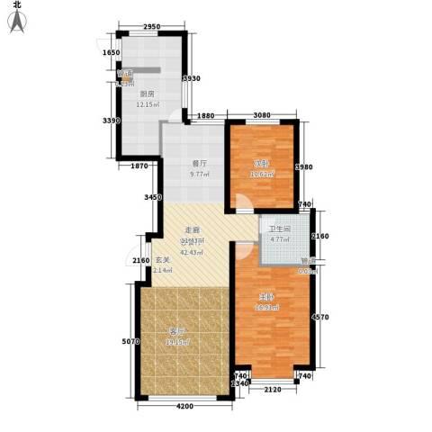 鑫科苑2室1厅1卫1厨106.00㎡户型图
