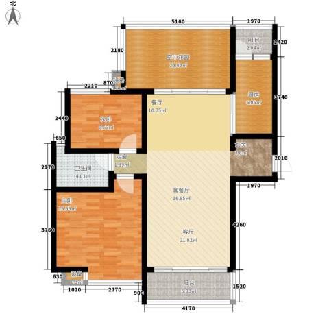 曲江诸子阶2室1厅1卫1厨111.00㎡户型图