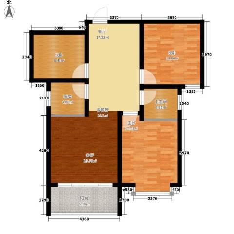 南海国际3室1厅1卫1厨120.00㎡户型图