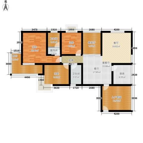 曲江诸子阶3室1厅2卫1厨133.00㎡户型图