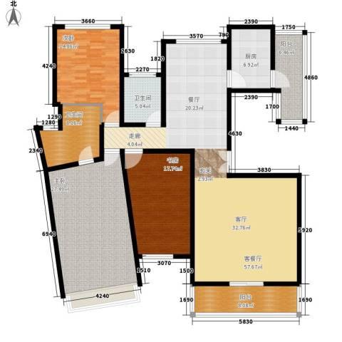 吴宫丽都3室1厅2卫1厨172.00㎡户型图