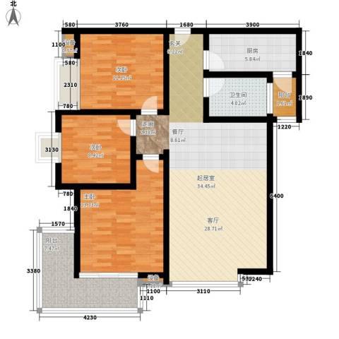 曲江诸子阶3室0厅1卫1厨105.00㎡户型图