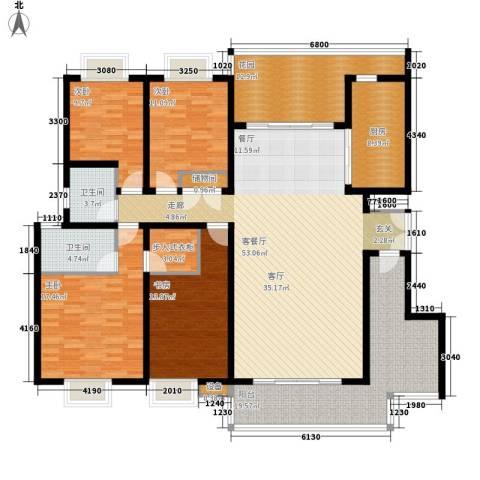 曲江诸子阶4室1厅2卫1厨188.00㎡户型图