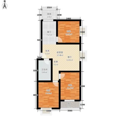 钢府逸居3室0厅1卫1厨94.00㎡户型图