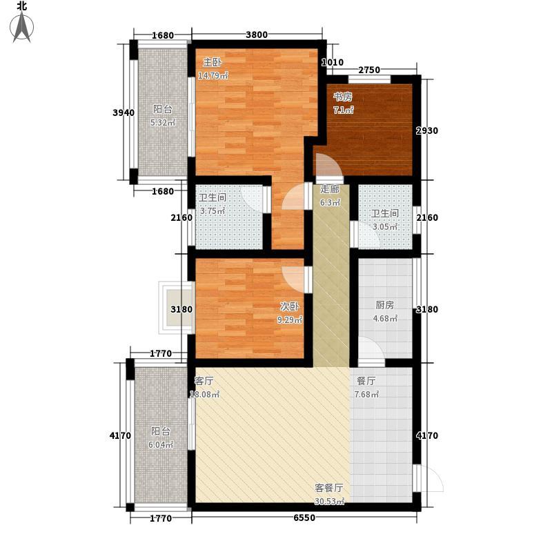 彩蝶花园91.00㎡彩蝶花园3室户型3室