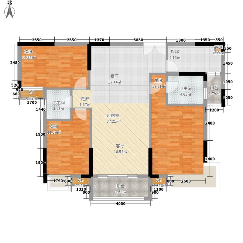 万隆・清华坊131.15㎡3、4栋2户型3室2厅2卫