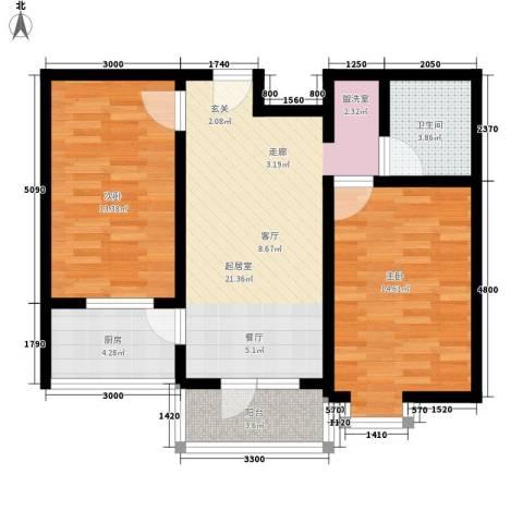 宝嘉龙庭2室0厅1卫1厨94.00㎡户型图