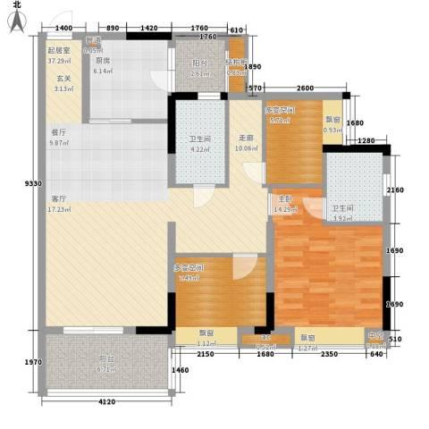 天马河壹号三期・御景湾1室0厅2卫1厨103.00㎡户型图