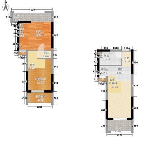 星御翠园1室0厅0卫1厨55.01㎡户型图