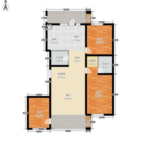 悦山国际3室0厅2卫0厨136.72㎡户型图