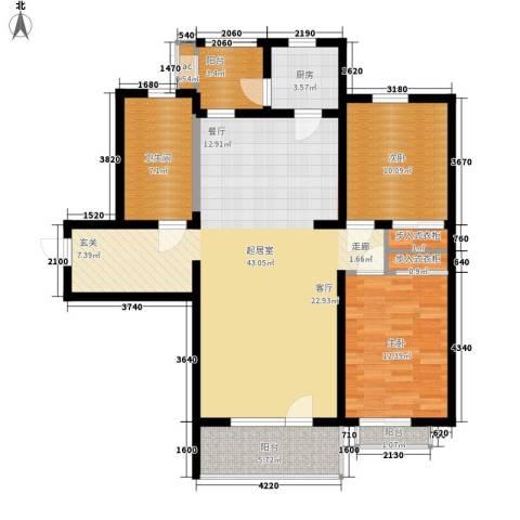 普罗旺斯2室0厅1卫1厨114.00㎡户型图
