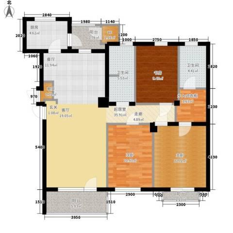 普罗旺斯3室0厅2卫1厨131.00㎡户型图