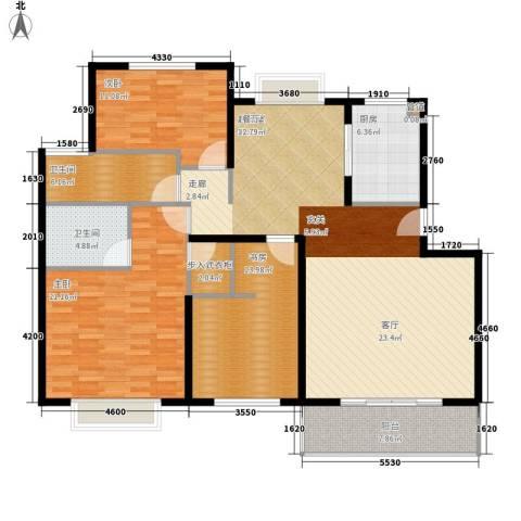 中虹花园锦绣文华3室0厅2卫1厨132.00㎡户型图