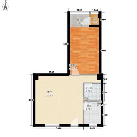 景泰翰林1厅1卫1厨94.00㎡户型图