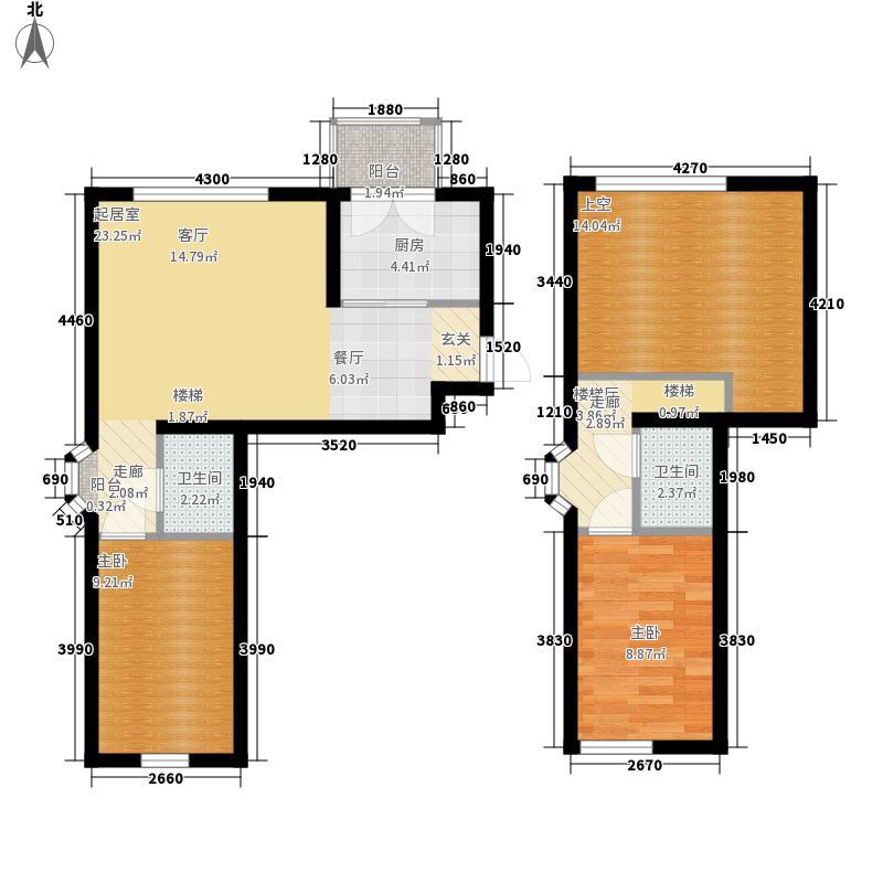 金泰蓝郡金泰蓝郡户型图复式81.65㎡2室2厅2卫1厨户型2室2厅2卫1厨
