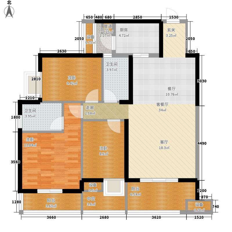 纯水岸・东湖120.00㎡纯水岸・东湖户型图T3\T4D3户型3室2厅2卫1厨户型3室2厅2卫1厨