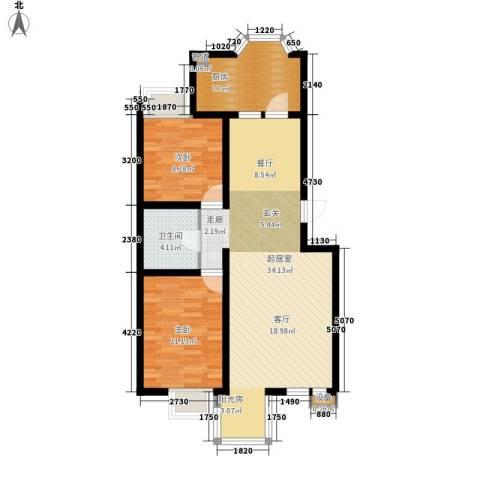 胜利小区2室0厅1卫1厨75.00㎡户型图