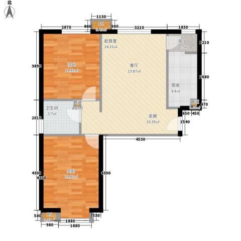 景泰翰林2室0厅1卫1厨82.00㎡户型图