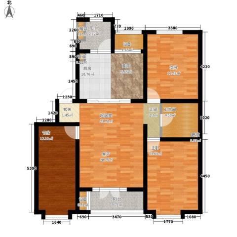 贵都之星3室0厅1卫1厨126.00㎡户型图