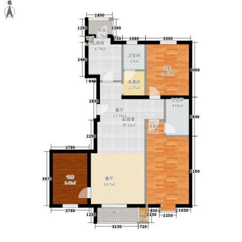 景泰翰林3室0厅2卫1厨140.00㎡户型图