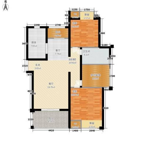 新港天之运2室0厅1卫1厨116.00㎡户型图