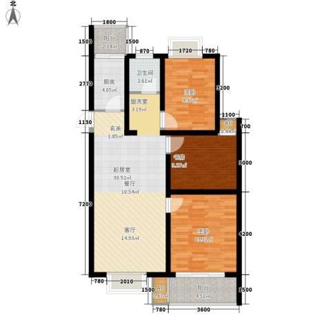 苏建艳阳居3室0厅1卫1厨97.00㎡户型图