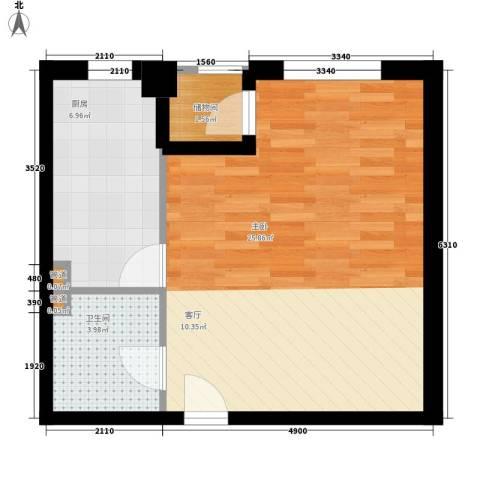 景泰翰林1室0厅1卫1厨49.00㎡户型图