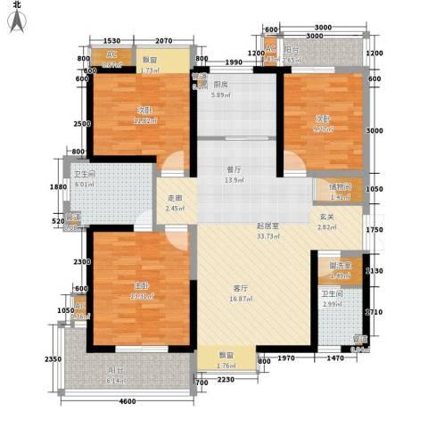 瑞泰卡地亚3室0厅2卫1厨135.00㎡户型图
