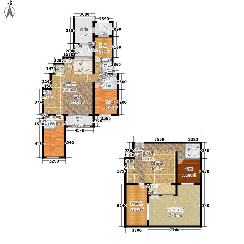富立・秦皇半岛154.81㎡富立・秦皇半岛户型图A2-1户型3室2厅2卫户型3室2厅2卫