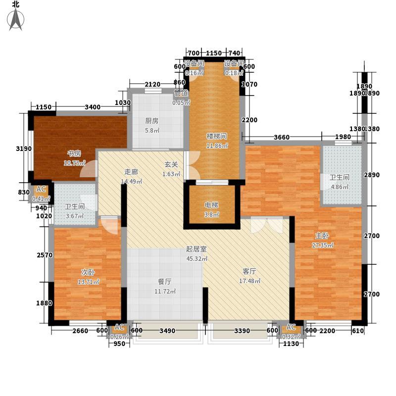 中粮・隆玺世家152.00㎡中粮・隆玺世家户型图十一号楼09户型3室2厅2卫户型3室2厅2卫