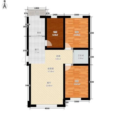 伟邦龙嘉小镇3室0厅1卫1厨104.00㎡户型图