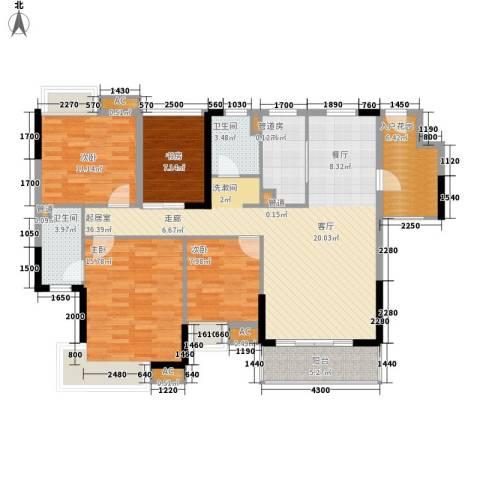 怡丰华府4室0厅2卫1厨120.00㎡户型图
